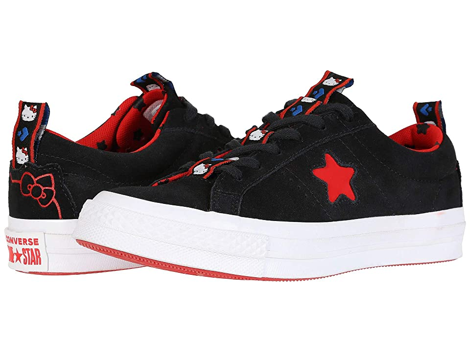 Converse Hello Kitty(r) One Star Ox (Black/Fiery Red) Lace up casual Shoes
