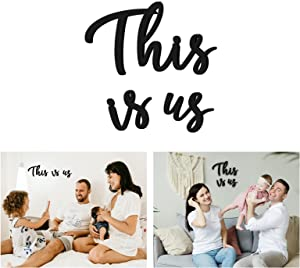 This Is Us Wall Decor, Zingoetrie This Is Us Wall Decorations for Living Room Bedroom Office Farmhouse Decor Wedding Decorations Wall Hanging Wood Sign