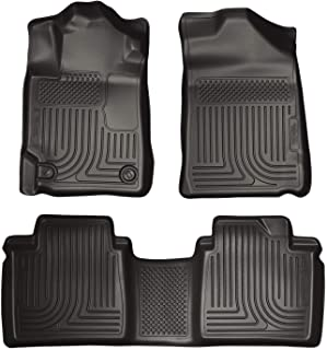 Husky Liners Fits 2007-11 Toyota Camry Weatherbeater Front & 2nd Seat Floor Mats,Black,98511