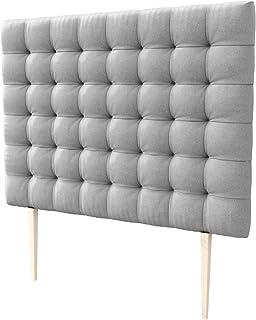 LA WEB DEL COLCHON - Cabecero tapizado Manhattan Big para Cama de 180 (190 x 165 cms) Gris Claro Textil Suave | Cama Juvenil | Cama Matrimonio | Cabezal Cama |