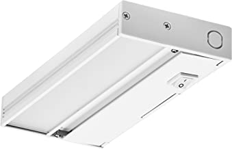 NICOR Lighting 8-Inch Slim Dimmable 2700K LED Under Cabinet Light Fixture, White (NUC-4-08-DM-W-WH)