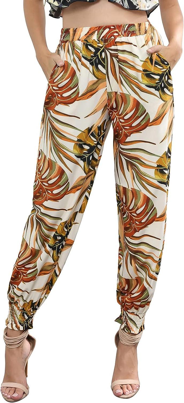 70% 5 ☆ popular OFF Outlet Kate Kasin Women Summer Boho Harem Yoga Beach Loose Print Pants