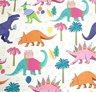 Dinosaur Bash Gift Wrapping Paper Flat Sheet - 24