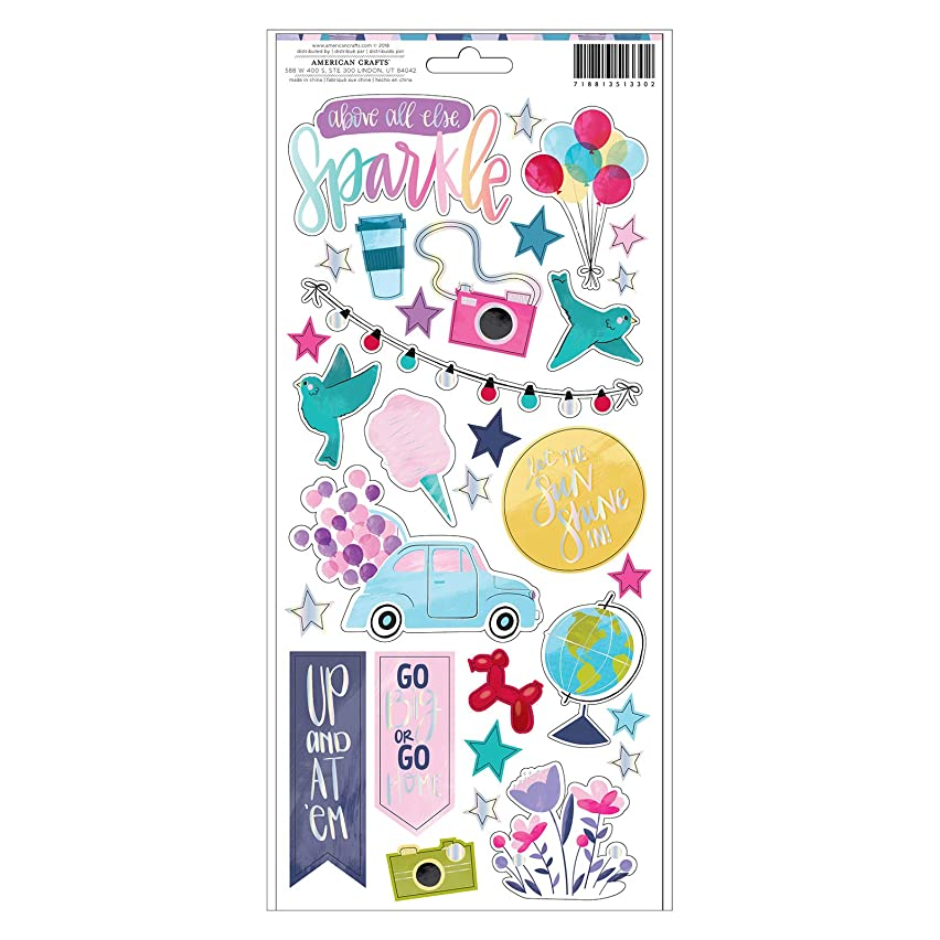 Shimelle 351330 Accent and Phrase Sticker, Multi