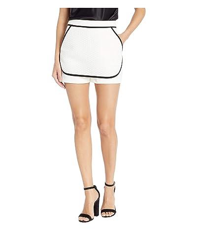 BCBGeneration Contrast Knit Skort TZW7193706 (Optic White) Women