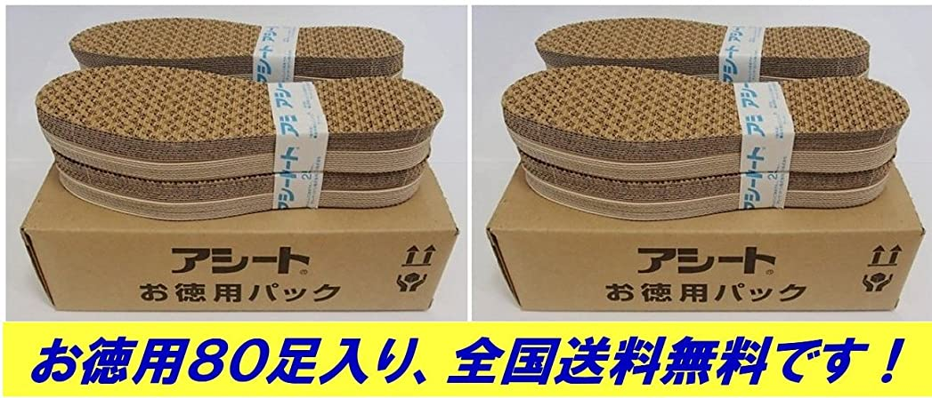 副寮多分アシートOタイプお徳用80足パック (23.5~24cm)