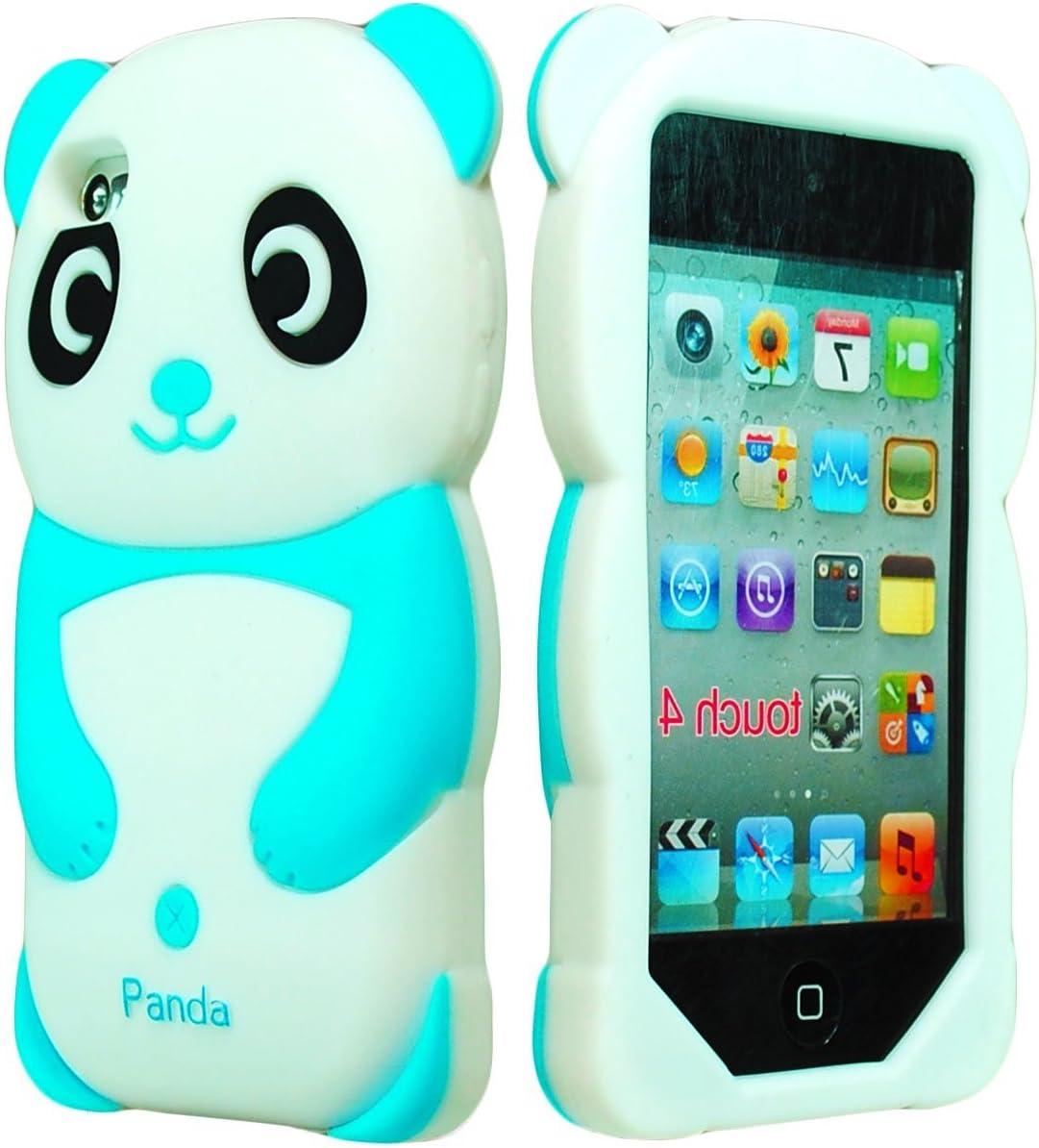 iPod Ultra-Cheap Deals Touch 4 Case Bastex 3D Sky Bea White Panda Silicone Max 84% OFF Blue
