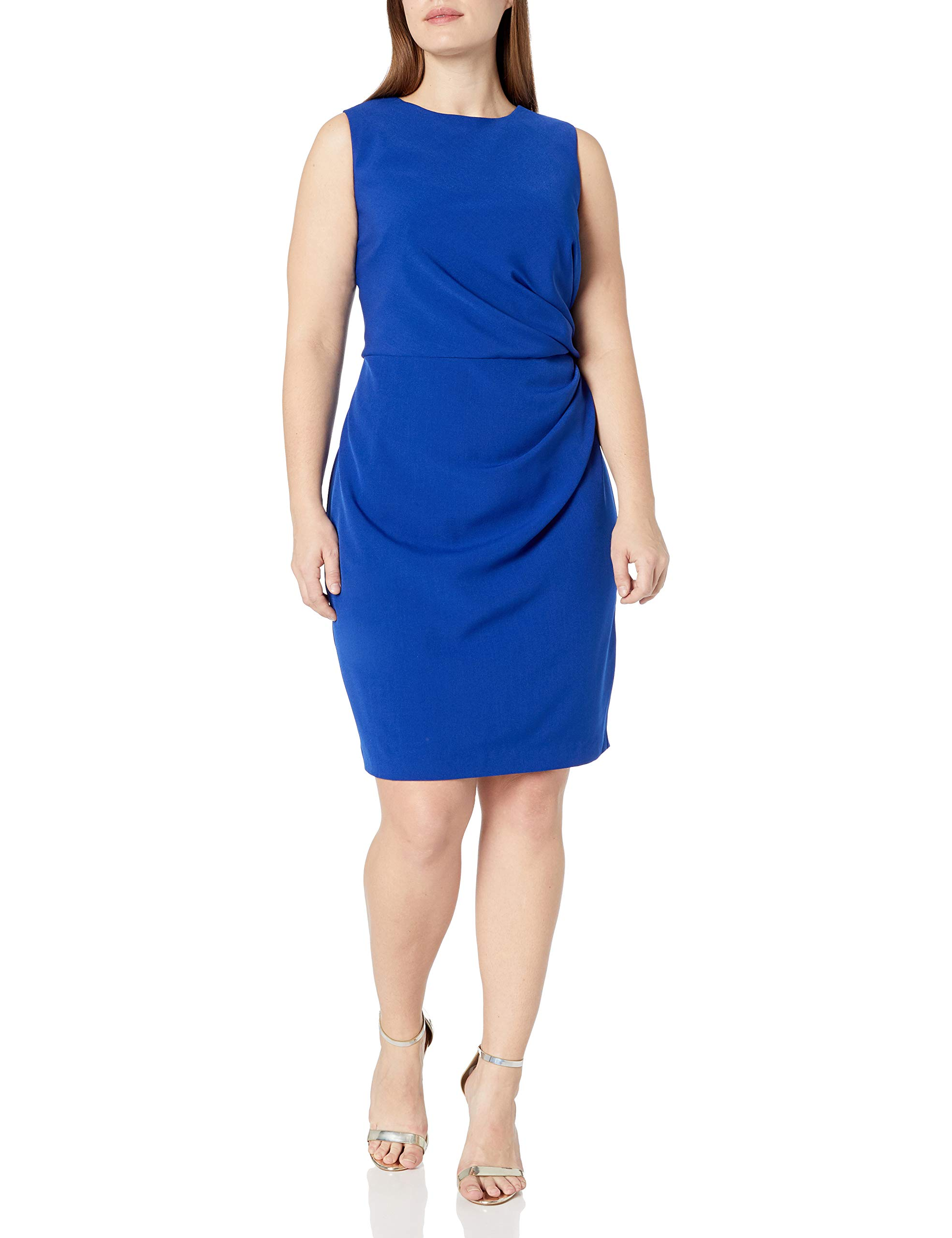 Available at Amazon: Adrianna Papell Women's Plus Size Womans Tucked Detail Stretch Crepe Sheath