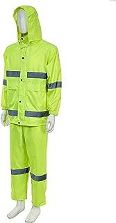 Joyutoy Portable Hooded Raincoat Reflective Rain Jacket Safety Raincoat