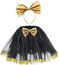 SanLai Girls Layered Birthday Outfit LOL Costume Halloween Tutu Skirt for Kids with Headband