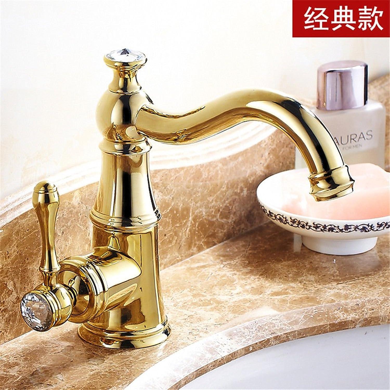 Lvsede Bad Wasserhahn Design Küchenarmatur Niederdruck Gold Heies Und Kaltes Kupfer- Und Diamantwaschbecken