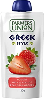 Farmers Union Strawberry Yoghurt Pouch, 130g - Chilled