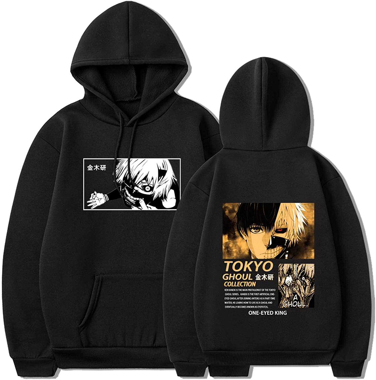 Men/Women Unisex Tokyo Ghoul Hoodies Streetwear Anime Casual Clothes Tops Oversized Sweatshirt Pullovers Hooded