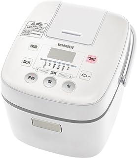 [山善] 炊飯器 3合 マイコン式 6種類炊き分け機能 予約 保温 玄米 ホワイト YJC-300(W) [メーカー保証1年]