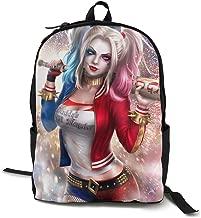 YXQMY Women Men Print Travel Daypack Cool Har-Ley Qu-inn School Backpack Shoulder Bag for Outdoor Camping