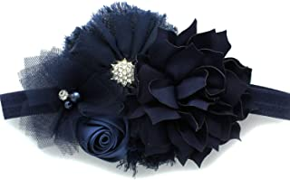 navy blue baby headband