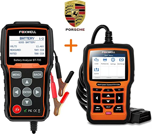 popular FOXWELL Battery Tester BT705 sale for new arrival 12-24 Volts NT510 Elite All System Scan Tool for Porsche outlet sale