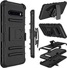 LG V60 ThinQ 5G Case, Yunerz Holster Heavy Duty Shockproof Full-Body Protective Hybrid Case Cover with Swivel Belt Clip an...