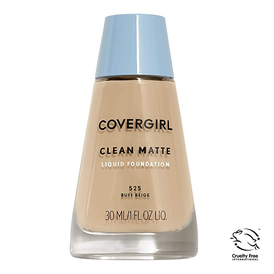 戦争千アンテナCOVERGIRL CLEAN OIL CONTROL MAKEUP #525 BUFF BEIGE