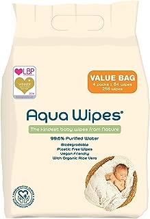 NHS APROBADO Biodegradables sin pl/ástico Toallitas para beb/é Aqua Wipes AQW12F 144 toallitas Toallitas h/úmedas Aqua Wipes, 99.6/% de Agua Purificada Veganas 12 x 12 toallitas de viaje