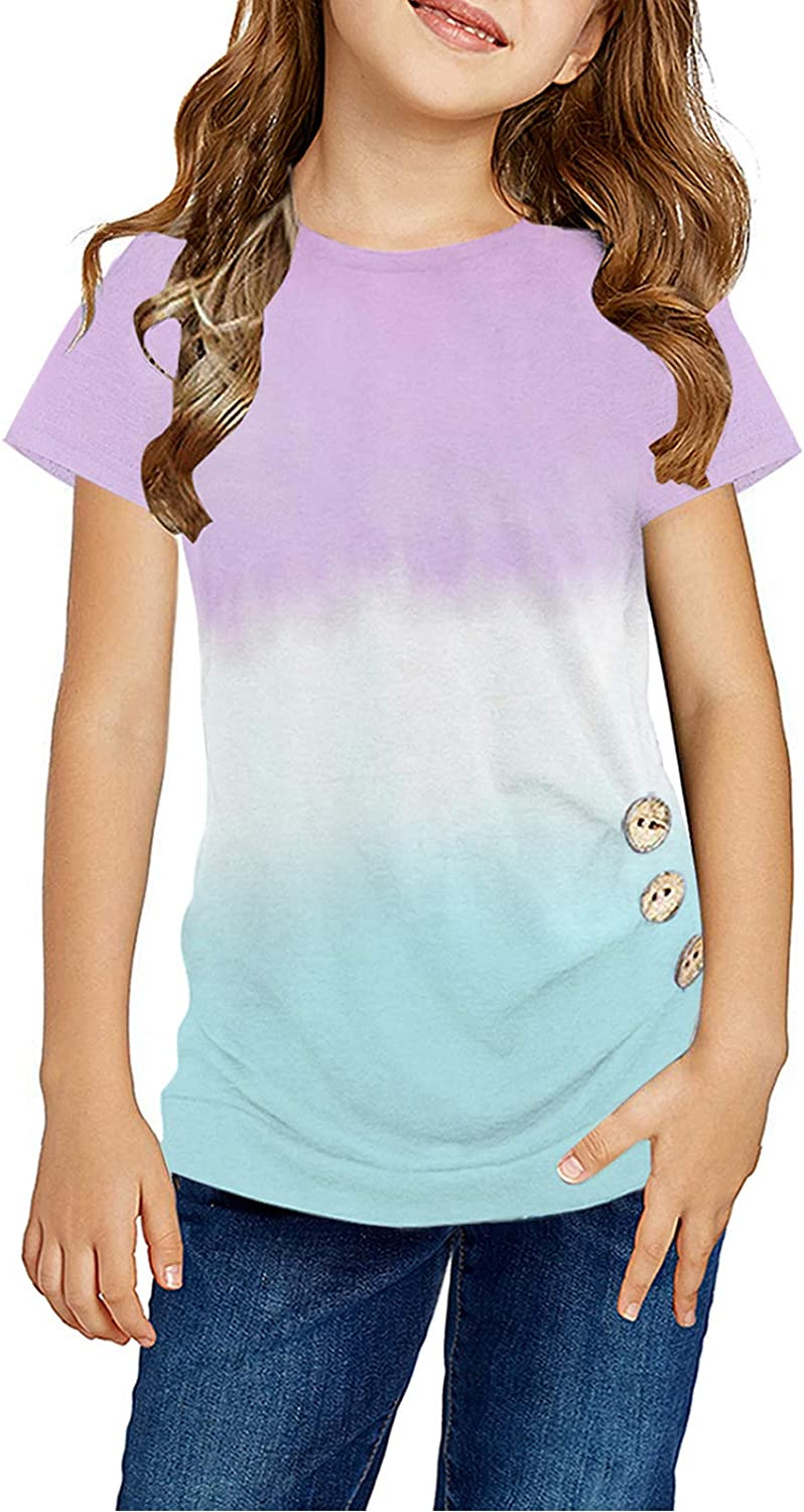 Ugmikdo Girls Casual Tunic Max 47% OFF Tops Side Long Max 74% OFF Sleeve Loose Button So