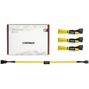 Noctua NA-SEC1 chromax.Yellow, Câbles-Rallonges de Ventilation, 3/4 Broches (30 cm, Jaune)