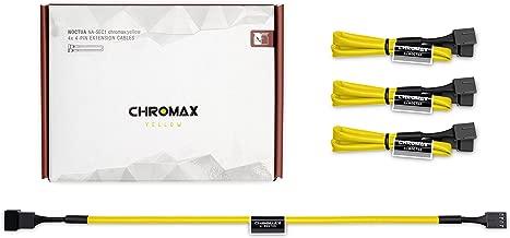 Noctua NA-SEC1 chromax.yellow, 3-Pin/4-Pin Extension Cables (30cm, Yellow)