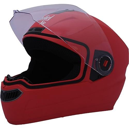 Steelbird Air SBA-1 Matte Full Face Helmet (Sports Red, M)