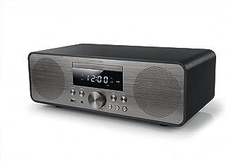 MUSE M-880 BTC Design Bluetooth stereo systeem met cd-speler en USB (FM, PLL, NFC, AUX), 80 Watt, zwart/zilver
