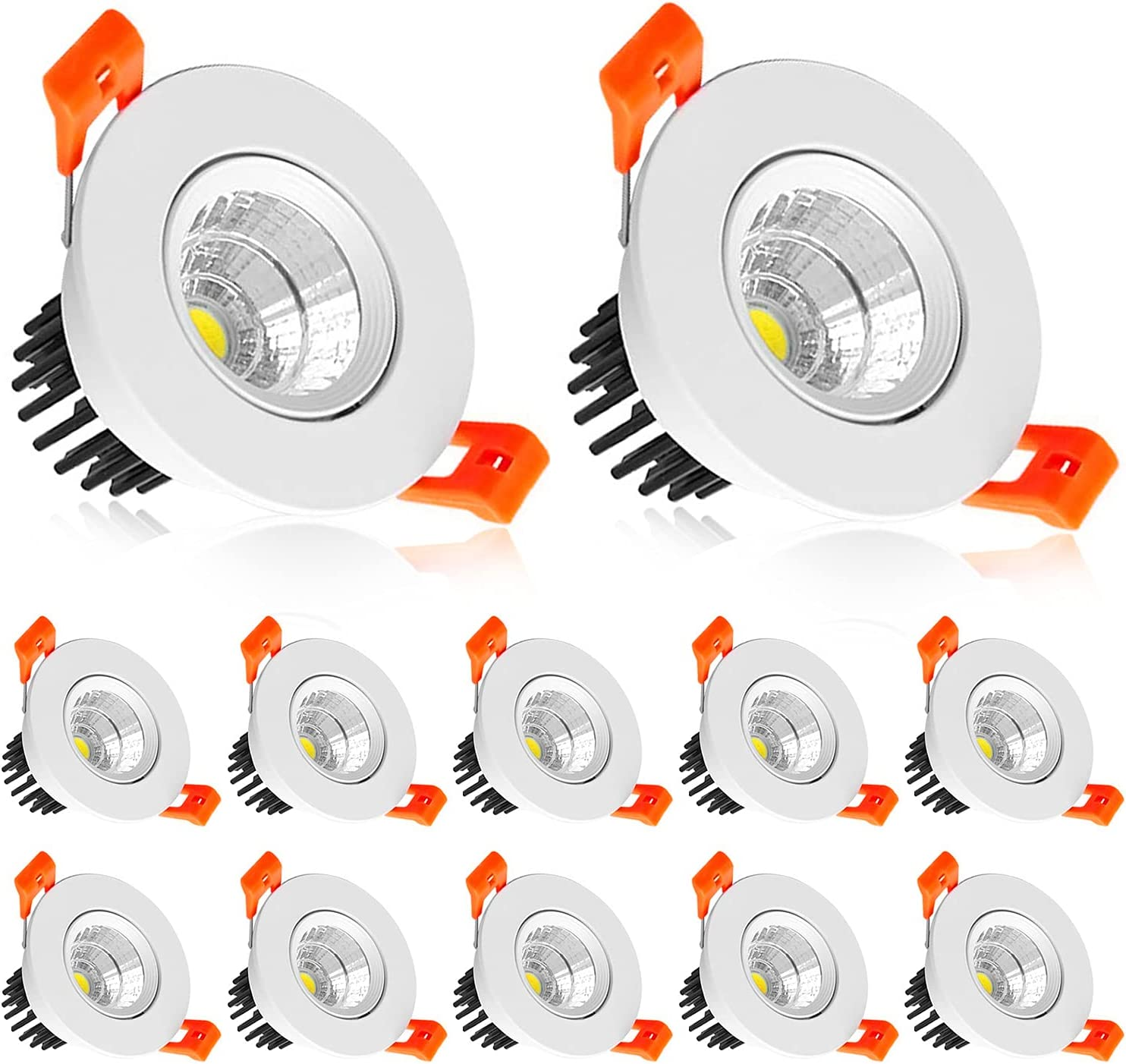 2 Inch LED Downlight Under blast sales 3W Recessed W COB Lighting discount Dimmable 3000K