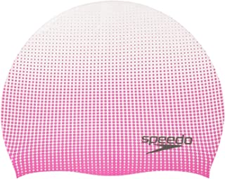 Speedo Mens Speedo Printed Color Blend Silicone Swim Cap 7751051