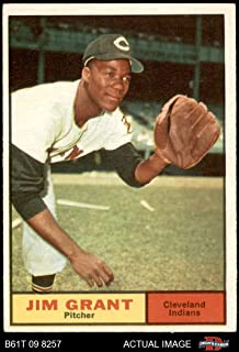 1961 Topps # 18 Jim Mudcat Grant Cleveland Indians (Baseball Card) Dean`s Cards 5 - EX Indians