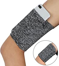 Running Arm Pouch for Keys - Hidden Phone Wrist Band Sleeve Arm Bag - Running Sports Arm Strap Wristband Holder Pouch Case for Exercise Workout Fits up to 6 inch Phone - 1PC Variegated Grey