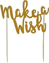 Mason Cash 2008.277 Make A Wish Cake Topper with Glitter Finish, Paper,