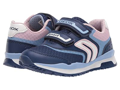 Geox Kids Pavel Girl 3 (Little Kid) (Navy/Avio) Girl