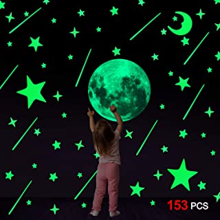 Lankater Estrellas Glow 50pcs 3D en la Pared Etiquetas engomadas Luminosas Fluorescentes Pegatinas de Pared Oscuros para Ni/ños habitaci/ón del beb/é Dormitorio de Techo Decoraci/ón