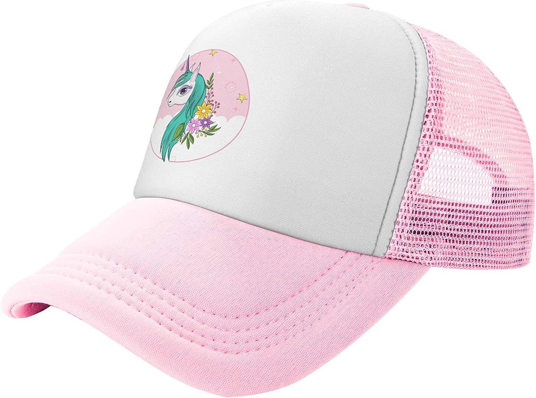 Unicorn Flower 5 popular Kid's Trucker Brand new Hats Hat Caps