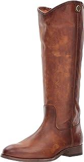 Frye Women's Melissa Button 2 Riding Boot, Cognac Extended Calf, 10