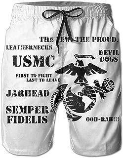 USMC United States Marine Corps USMC The Few The Proud Mans Surf Board Beach Home Beach Shorts Board Shorts
