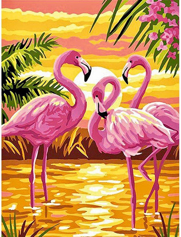 Xhabb 5D DIY Diamond Painting Living Room Decoration Painting Diamond Drawing Flamingo 5D Full Diamond Cross Stitch 30X40Cm