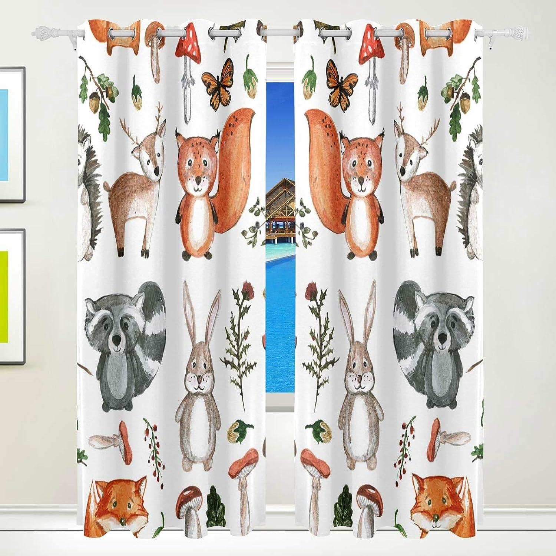 rotecor Verdunkelungsvorhang Waldtiere Fuchs Fuchs Fuchs Bedruckt Kinder Schlafzimmer Gardinen 140x213 cm 2er Set B00R99WQD4 047054
