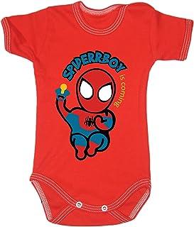Colour Fashion Body à manches courtes pour bébé Spiderman 0-24 mois 0003 (18-24 mois, 92 cm, rouge)