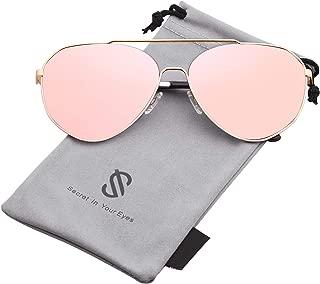 Oversized Aviator Sunglasses Mirrored Flat Lens for Men Women UV400 SJ1083