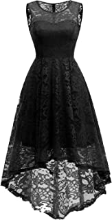 MuaDress Vintage Cocktail Vestiti Elegante Donna Hi-Lo Fiore Pizzo