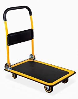 """MaxWorks 80877 35.85"""" x 24"""" x 34.25"""" Foldable Platform Truck Push Dolly (660 lb. Weight Capacity with Swivel Wheels)"""