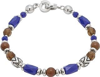 JEWELS BY LEONARDO DARLIN'S damesarmband Marocco, roestvrij staal met glas- en Cat-Eye-parels, met mini-clip, clip & MIX-s...