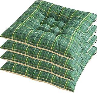 YUANYOU Cuscini per sedie da Pranzo con Lacci, Cuscini per sedili a griglia Verde per sedie da Pranzo, Cuscino Tatami per ...