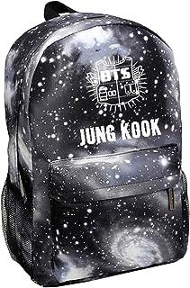Kpop BTS Backpack Suga V Jin Jimin Rap-Monster Schoolbag Starry Sky Satchel