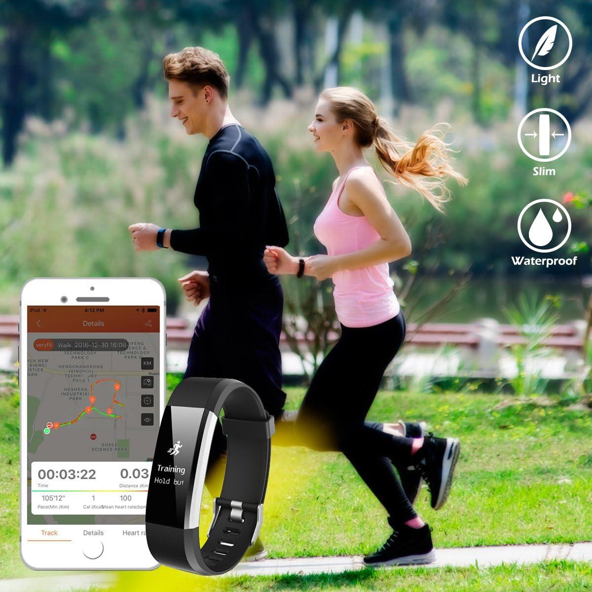 Message Pousse Alerte SNS pour t/él/éphone iOS Android CHEREEKI Fitness Tracker de Fitness avec IP67 /étanche /à leau Tracker dactivit/é Sportive Montre Intelligente avec Moniteur de Sommeil