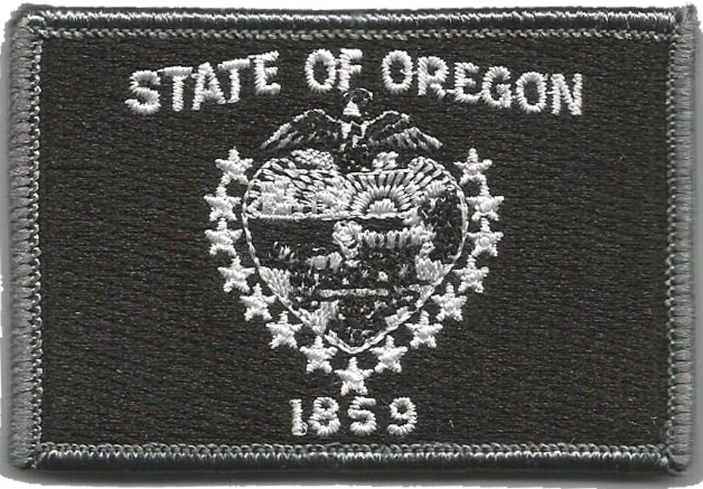 """6 Pack BuckUp Tactical Patch Hook Oregon Salem State Patches 3x2/"""""""